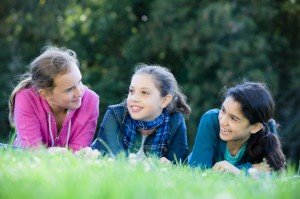 Three Smiling Tween Girls